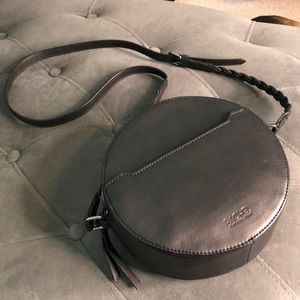Black Round Rachel Roy Crossbody Bag